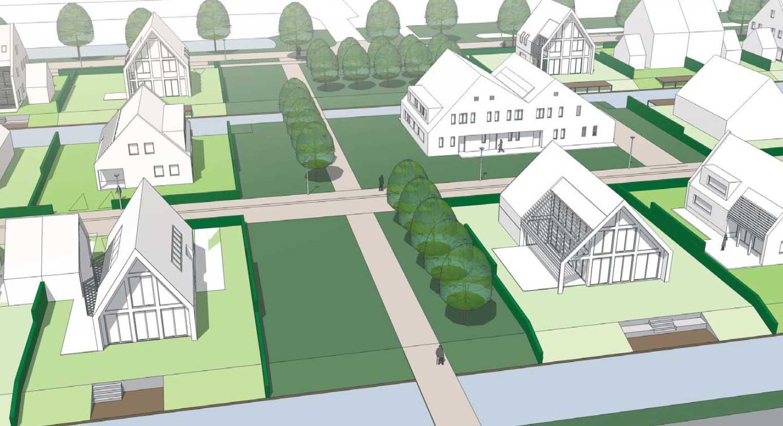 impressie groenstructuur - woonwijk De Wadde Plasweg Waddinxveen