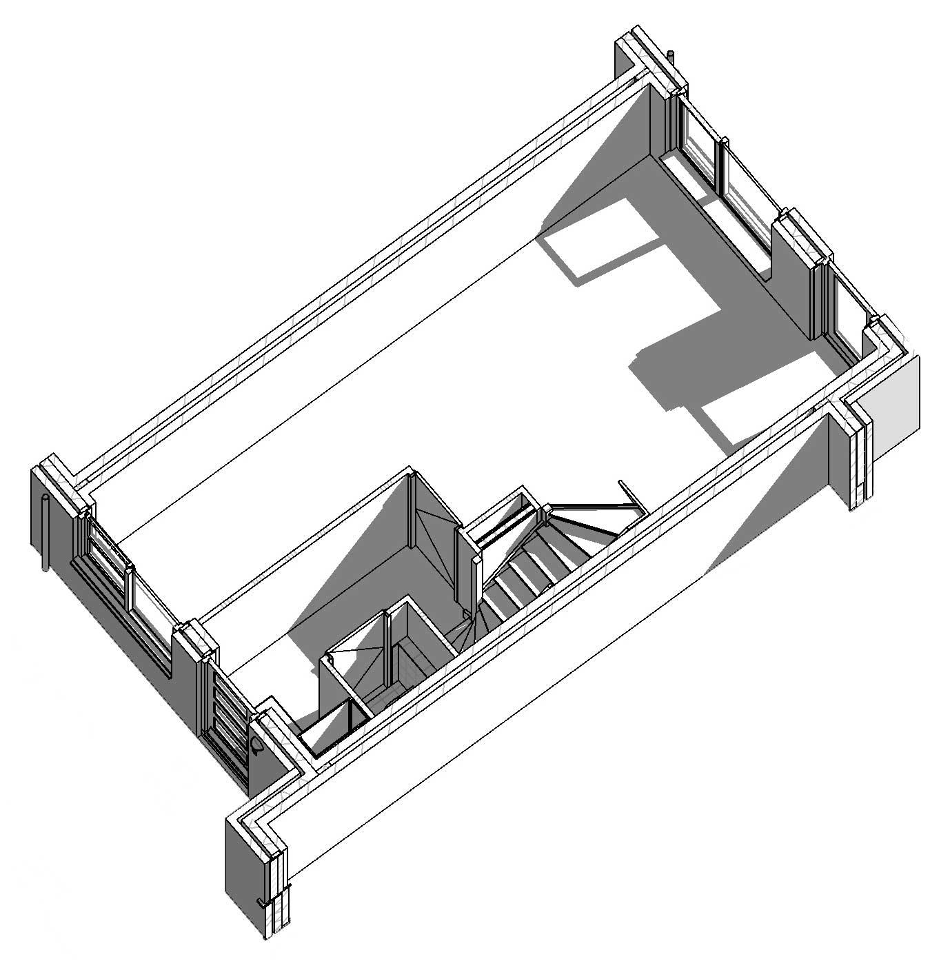 isometrie eerste verdieping starterswoning beuk 4,8m - CPO Starterwsoningen Weideveld Bodegraven