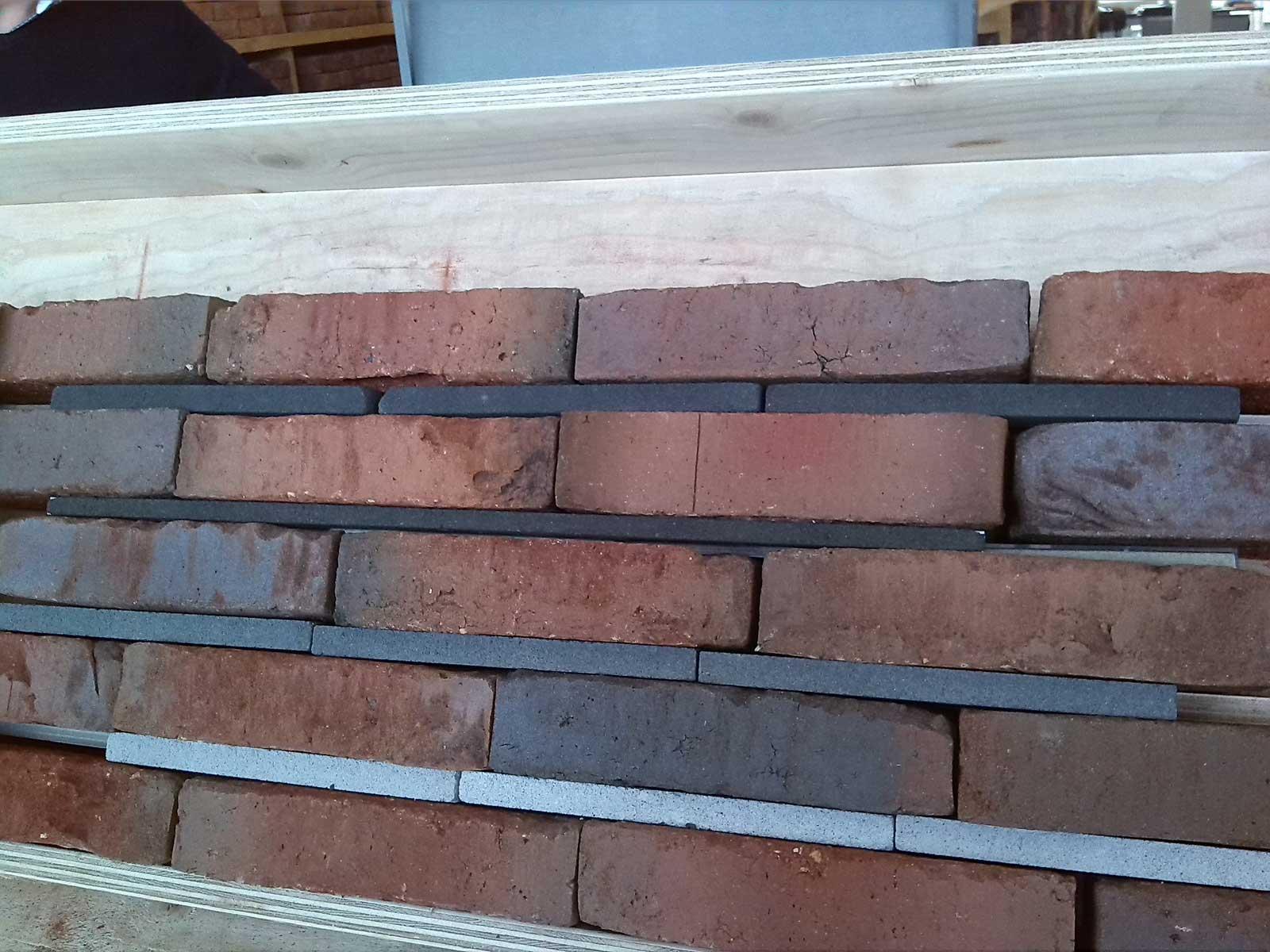 bemonstering baksteen en voegkleur - CPO patiowoningen Sleenstraat Brielle
