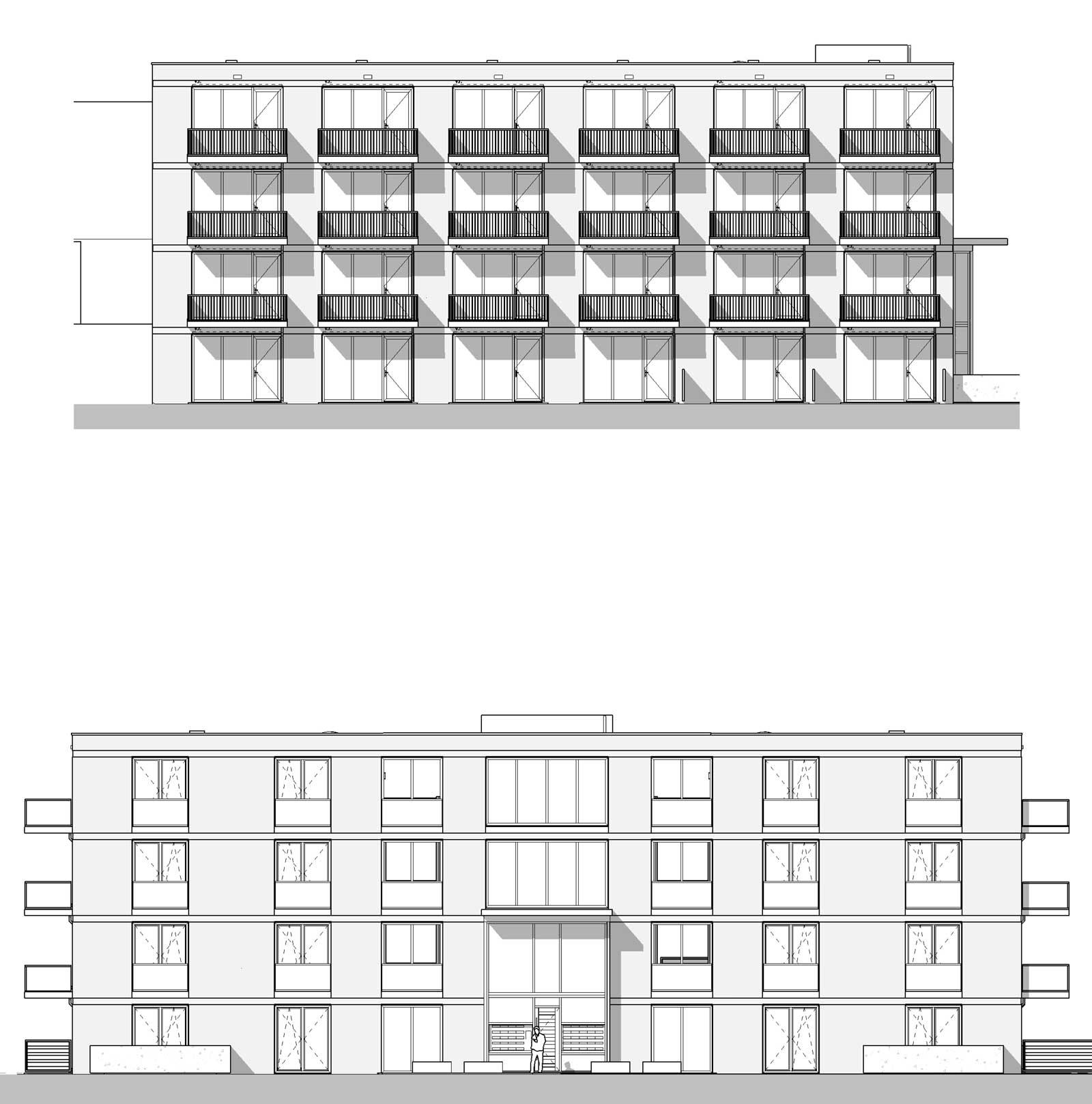 Appartementencomplex Welgelegen Blok G Utrecht - Gevelaanzicht Schönberglaan en Bartoklaan