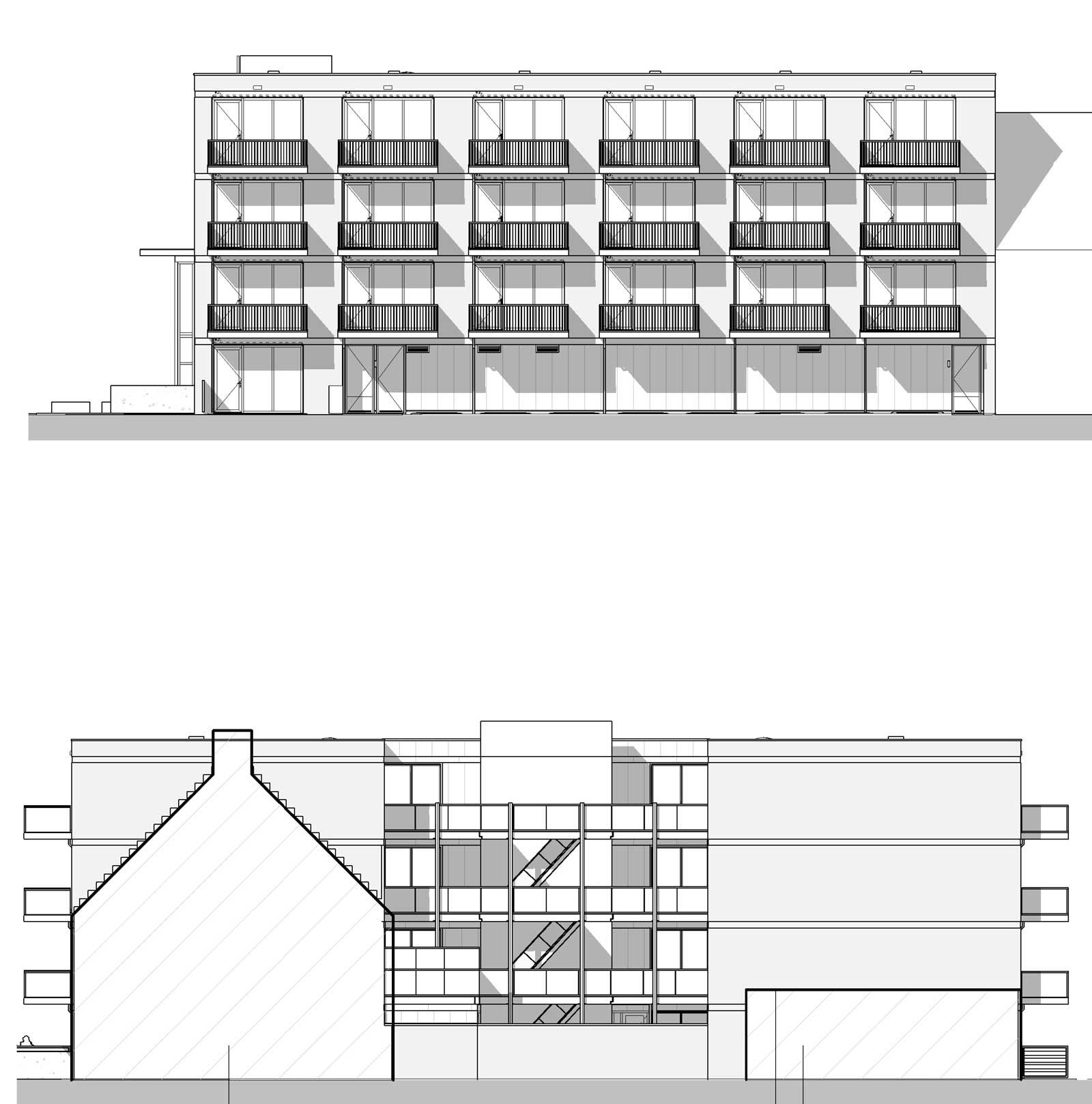 Appartementencomplex Welgelegen Blok G Utrecht - Gevelaanzichten Peter Schathoflaan