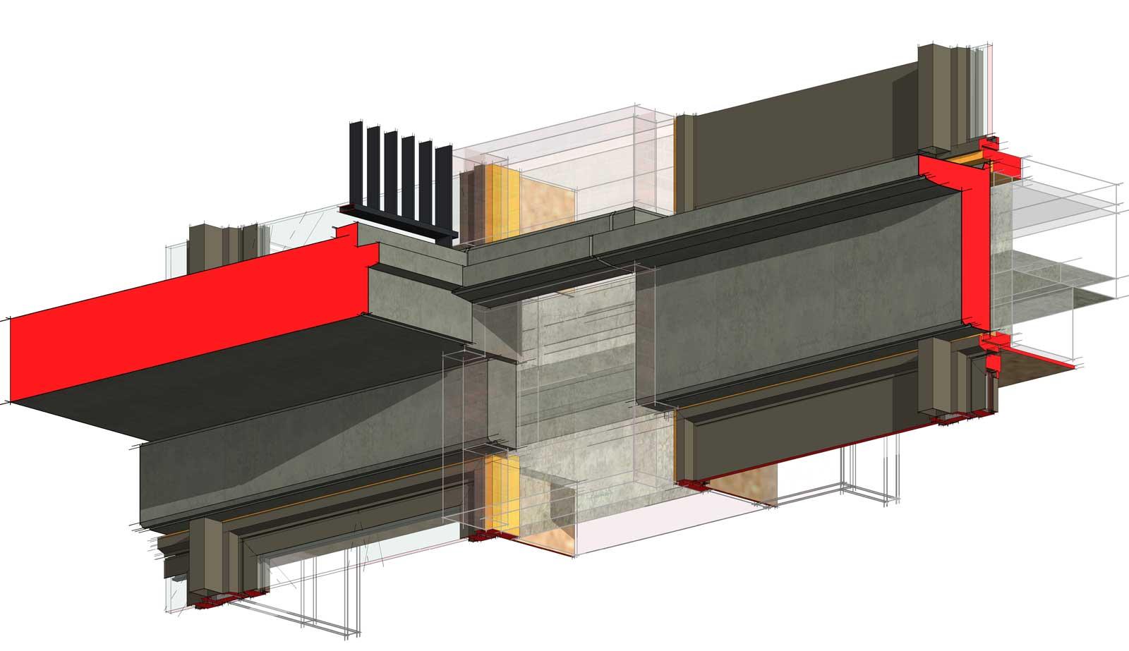 Ede residentie Enka appartementencomplex - 3D detail prefab beton