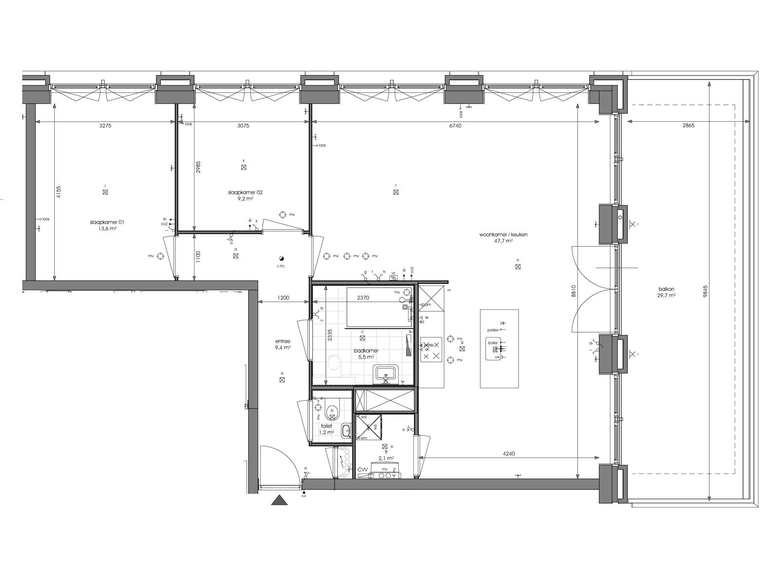 Ede residentie Enka appartementencomplex - Plattegrond appartement type A1