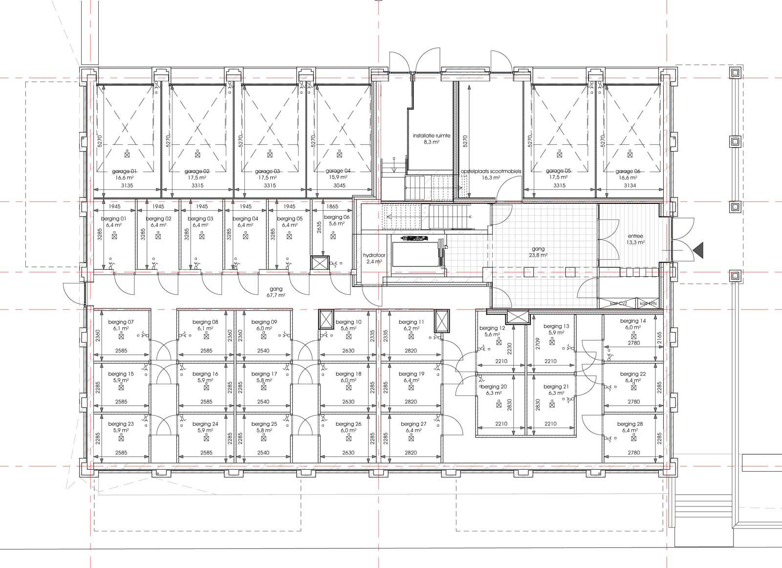 Ede residentie Enka appartementencomplex - Begane grond