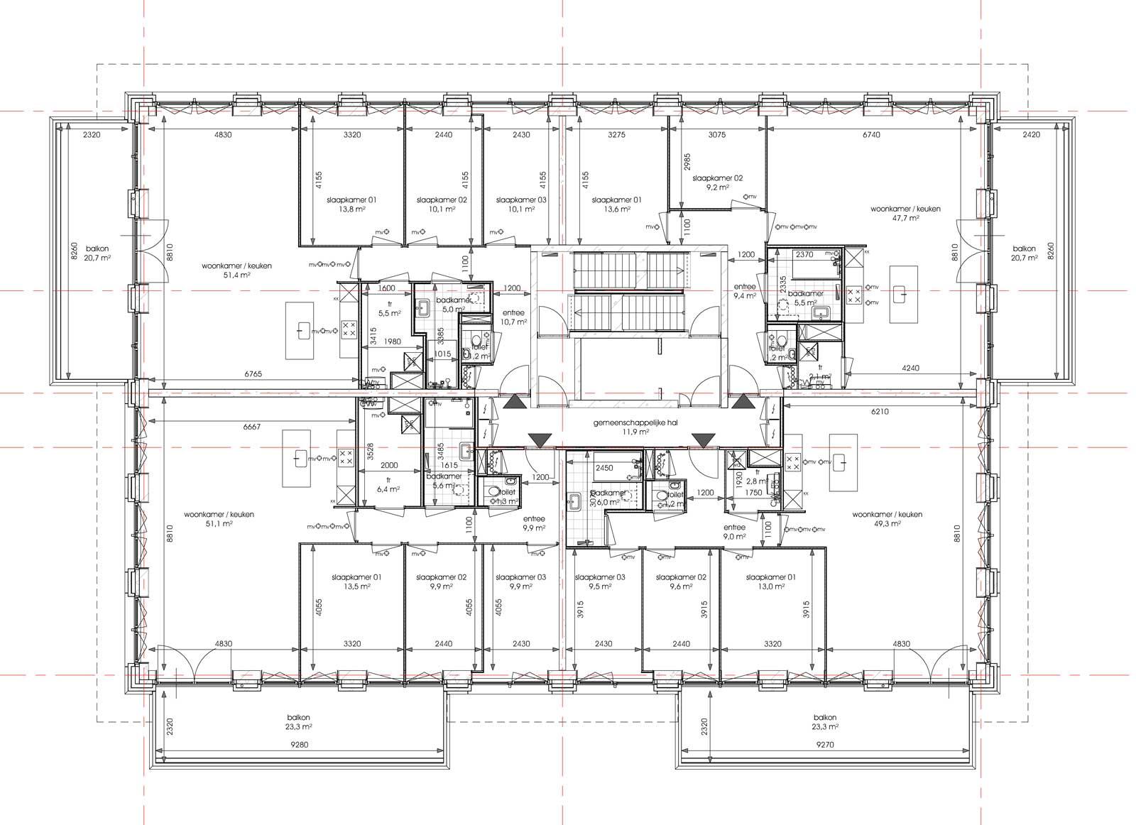 Ede residentie Enka appartementencomplex - Zevende verdieping