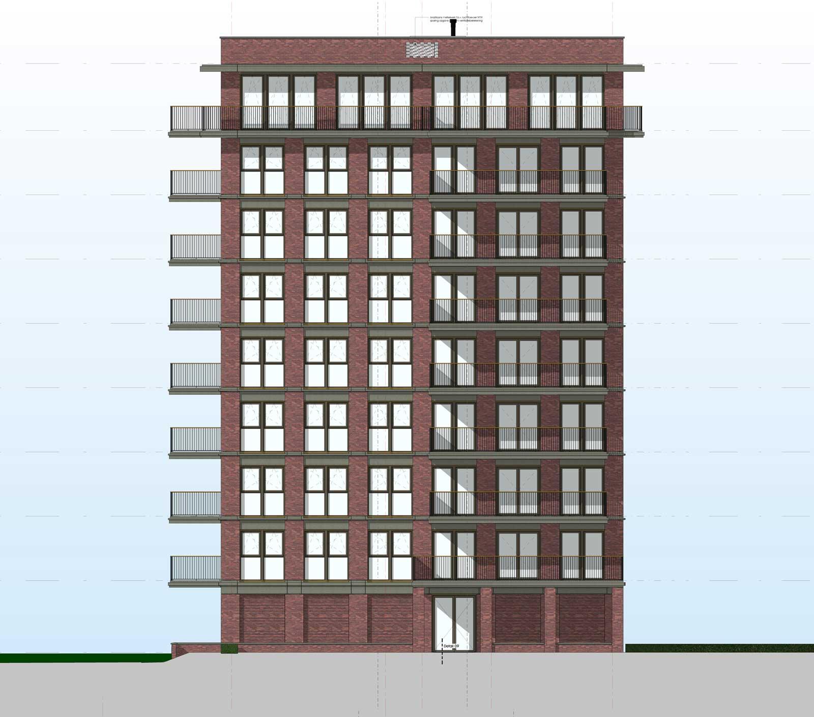 Ede residentie Enka appartementencomplex - Rechter zijgevel