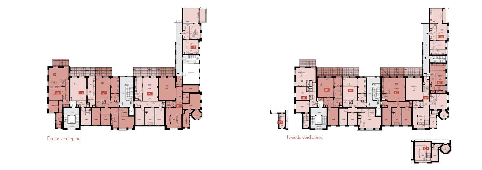 eerste verdieping en tweede verdieping - Rijksmonument Ooglijdersgasthuis Utrecht