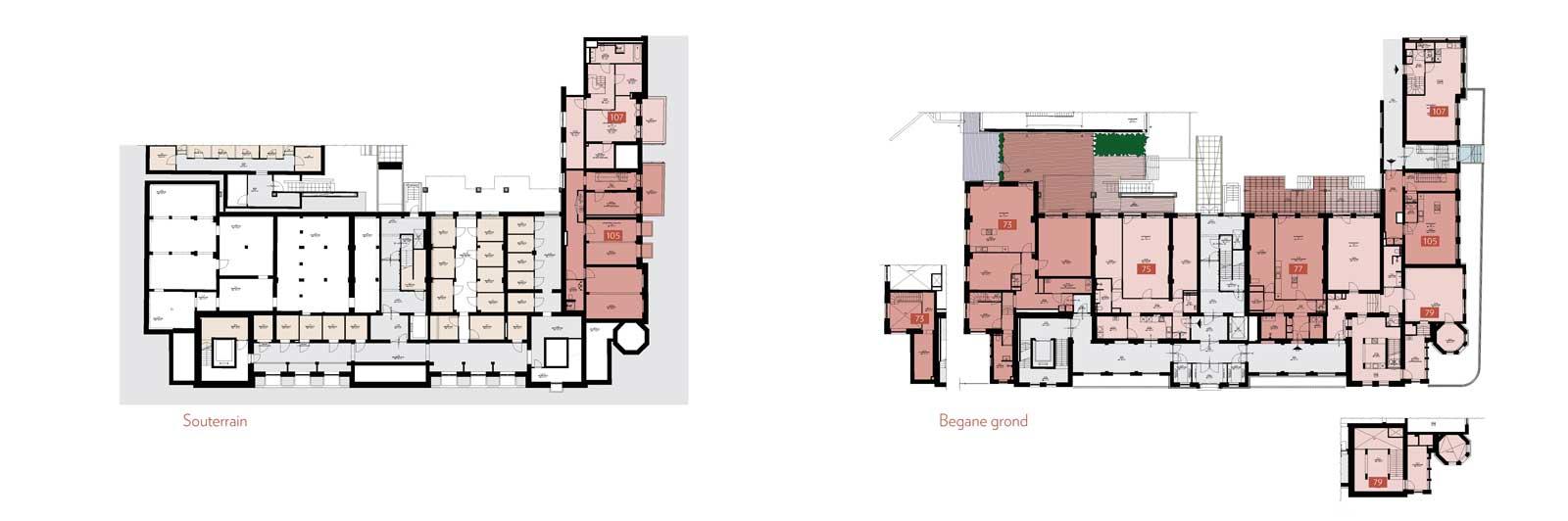 souterrain en begane grond - Rijksmonument Ooglijdersgasthuis Utrecht