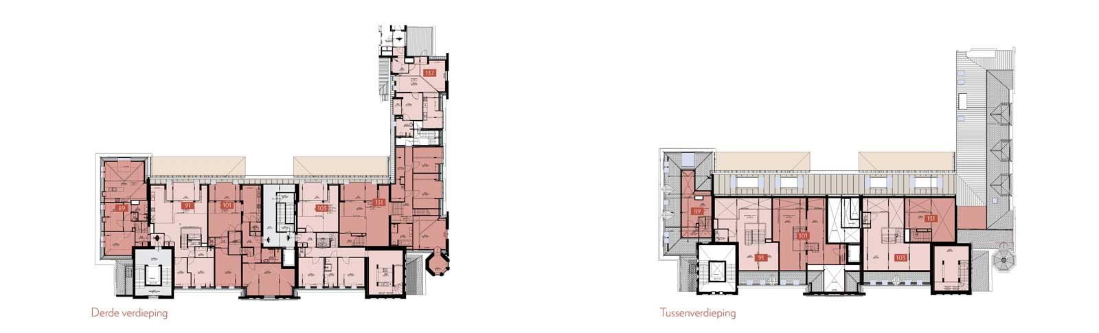 derde verdieping en tussenverdieping - Rijksmonument Ooglijdersgasthuis Utrecht