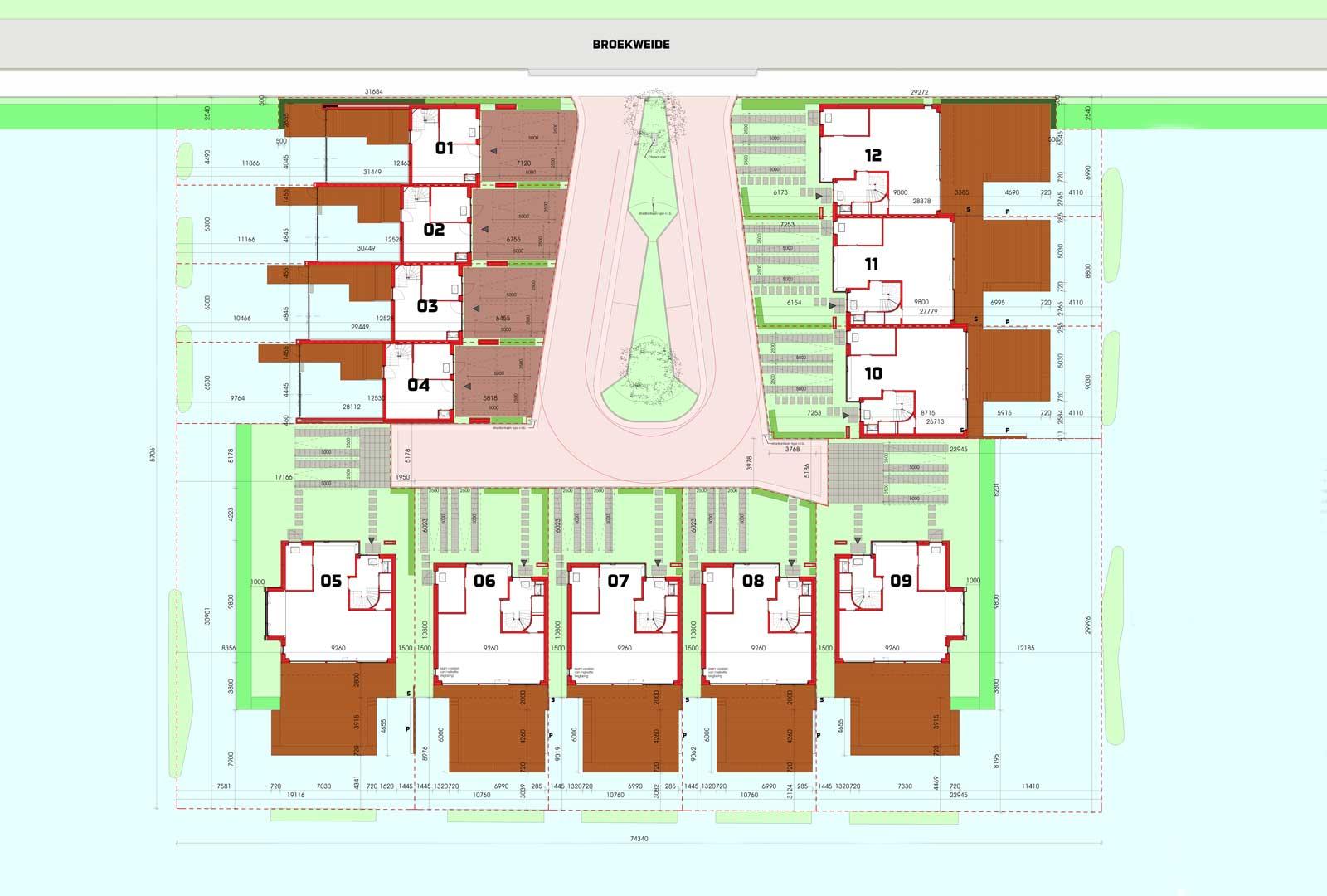 situatietekening - havenwoningen Oude Tol Reeuwijk