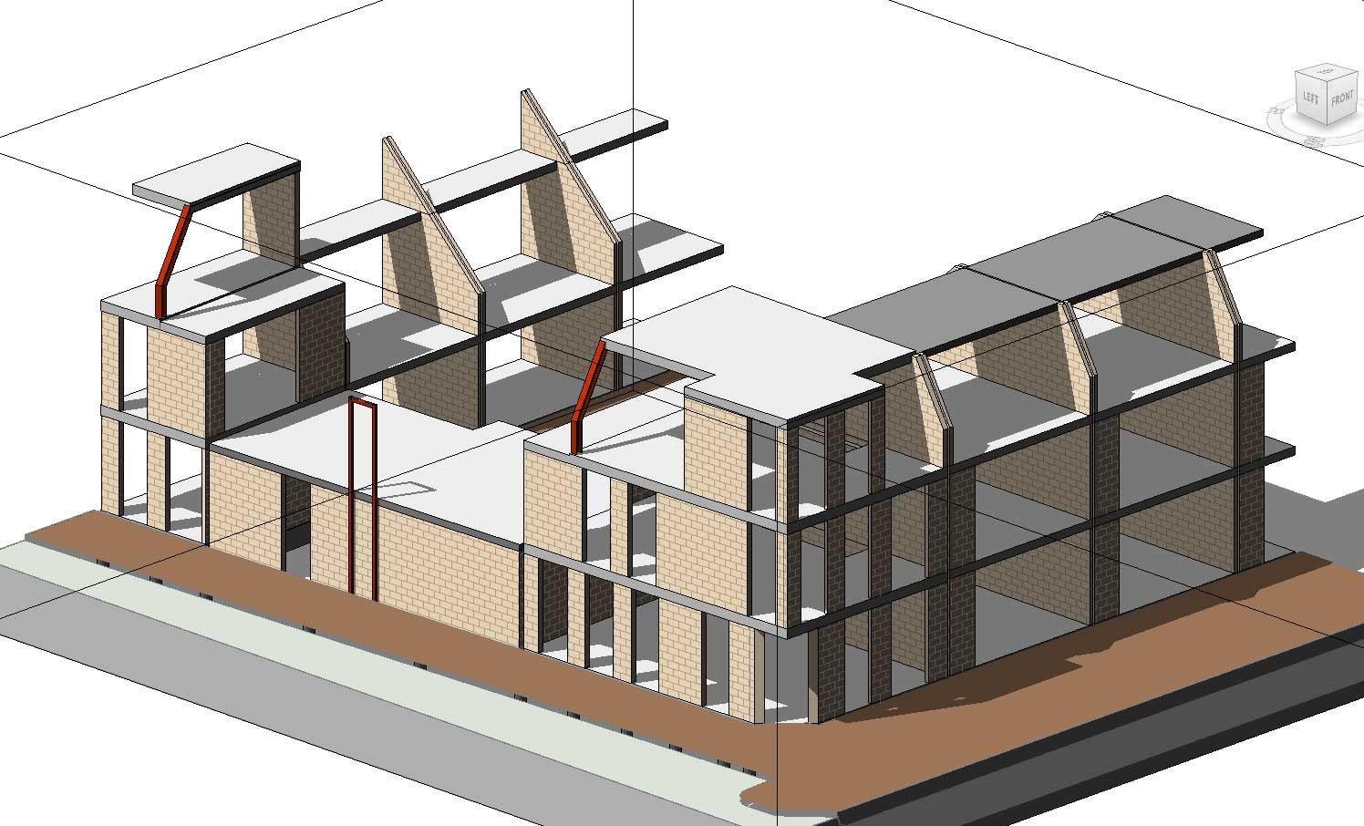 BIM model constructeur - Utrecht De Novelle stadswoningen