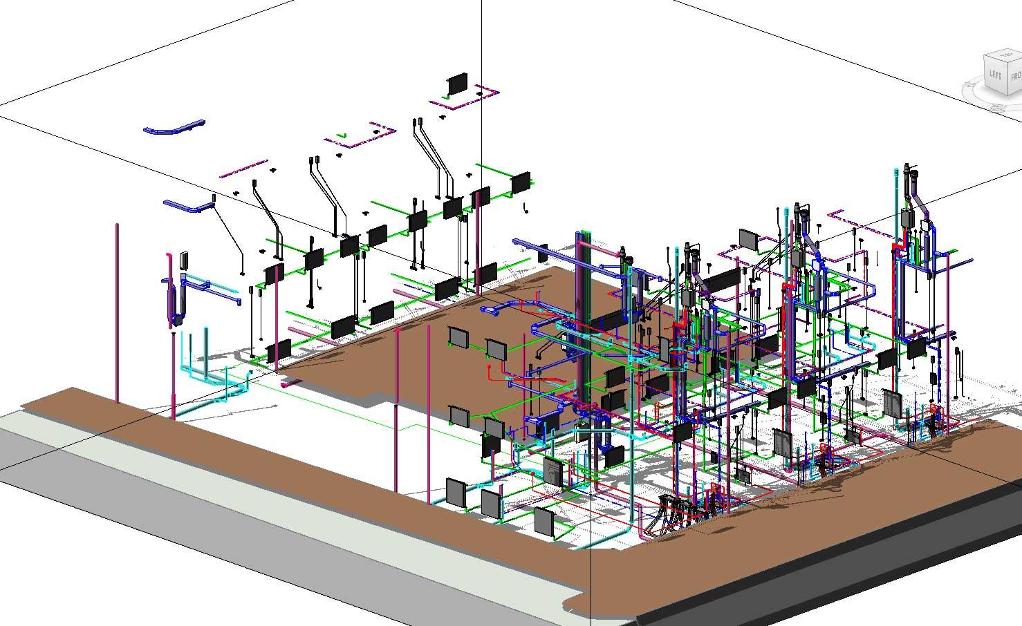 BIM model installaties - Utrecht De Novelle stadswoningen