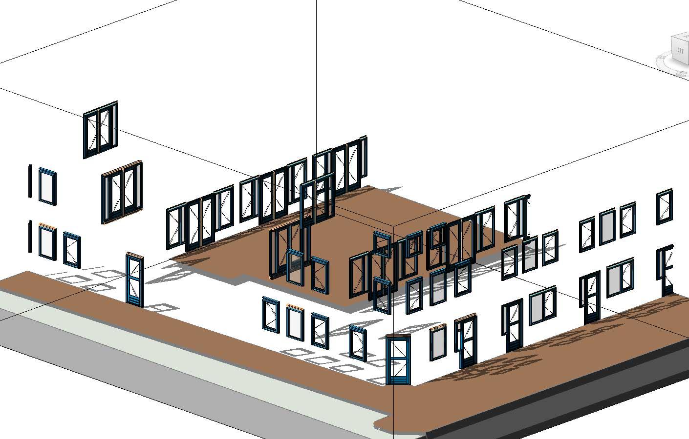BIM model kozijnen - Utrecht De Novelle stadswoningen