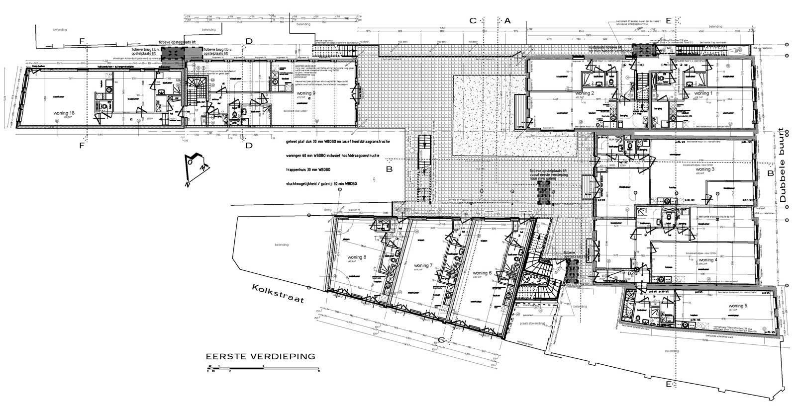 eerste verdieping - Binnenstedelijke herontwikkeling Dubbele Buurt Purmerend