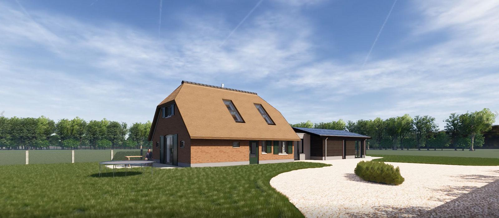 impressie voorzijde - particulier woonhuis boerderij Vaassen