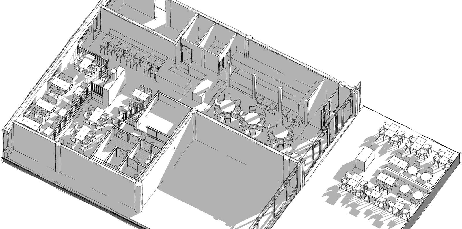 isometrie ontwerp - Restaurant Koeien en Kaas Zoetermeer