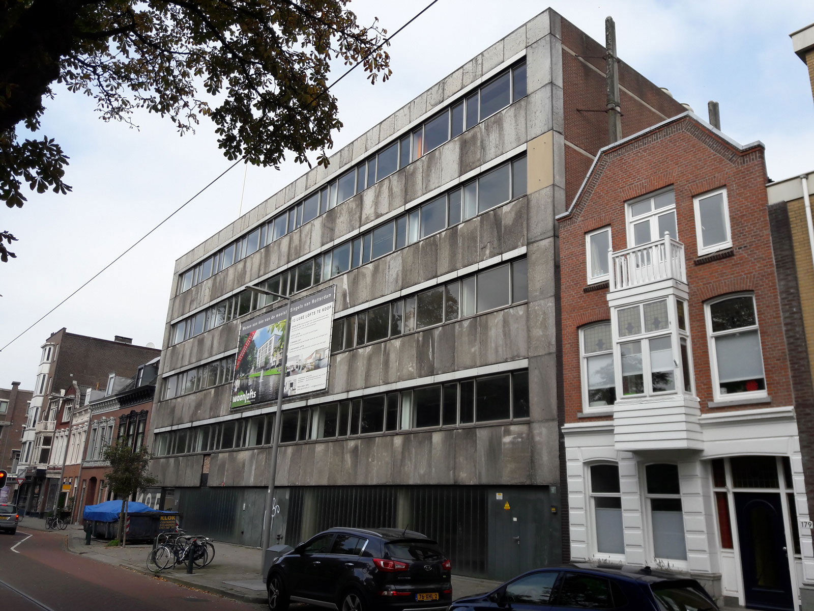 bestaand kantoorpand - transformatie kantoor loftwoningen Noordsingel Rotterdam