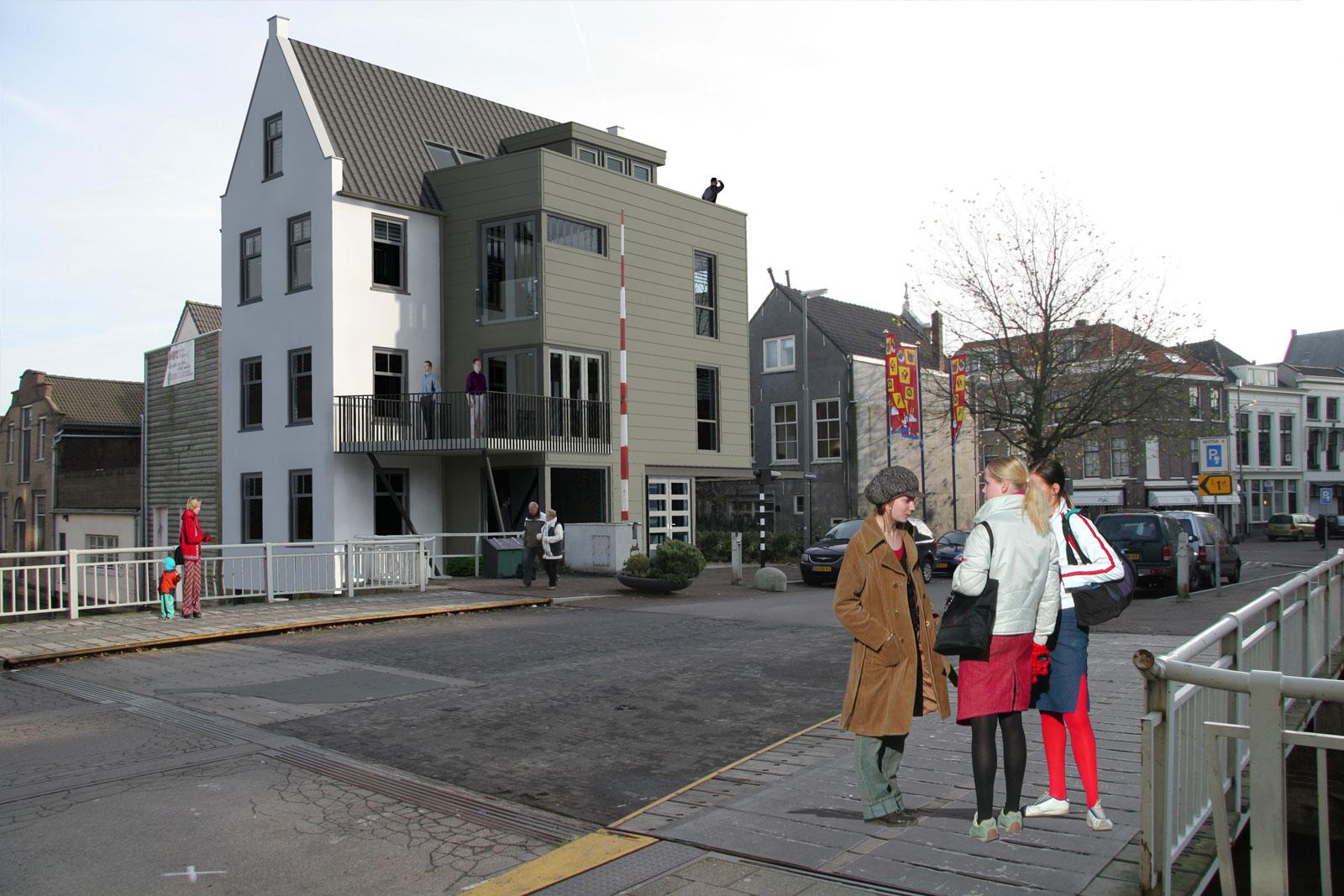 impressie ontwerp nieuwbouw - woning met praktijkruimte Ooievaarsteeg Schiedam