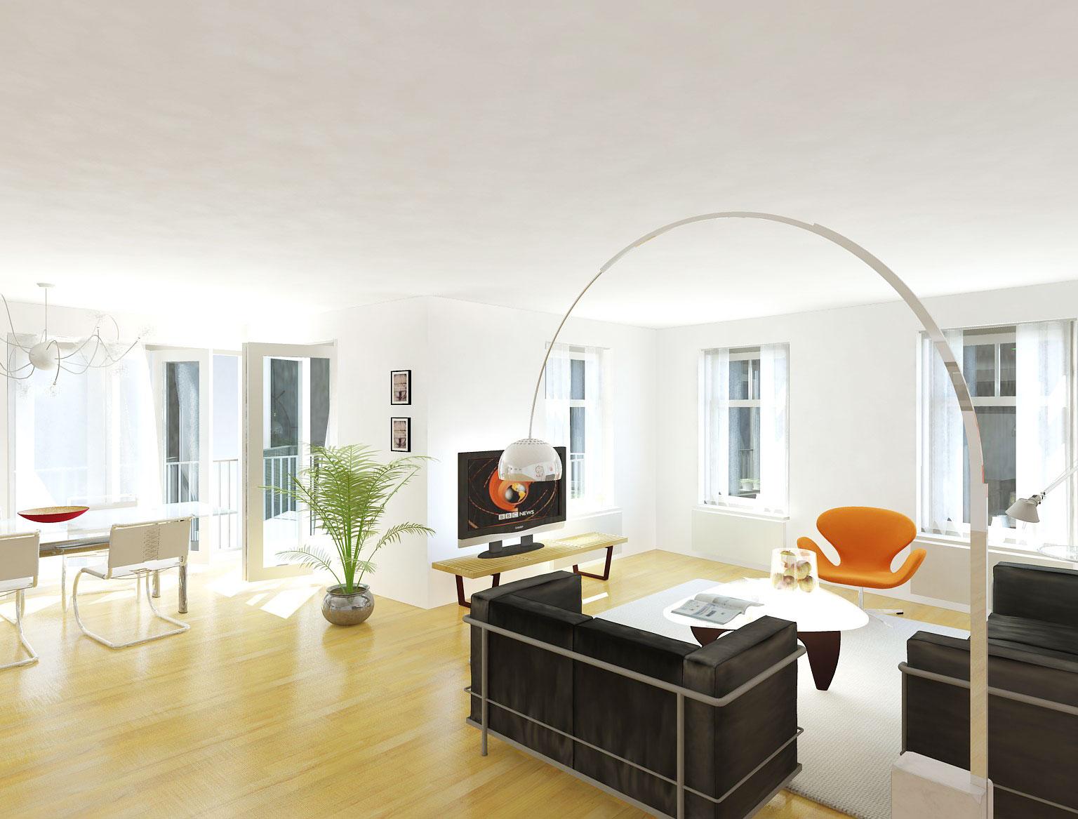 impressie interieur - woning met praktijkruimte Ooievaarsteeg Schiedam