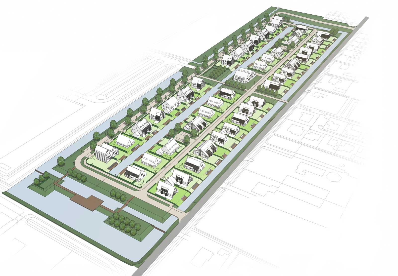 impressie planuitwerking - woonwijk De Wadde Plasweg Waddinxveen