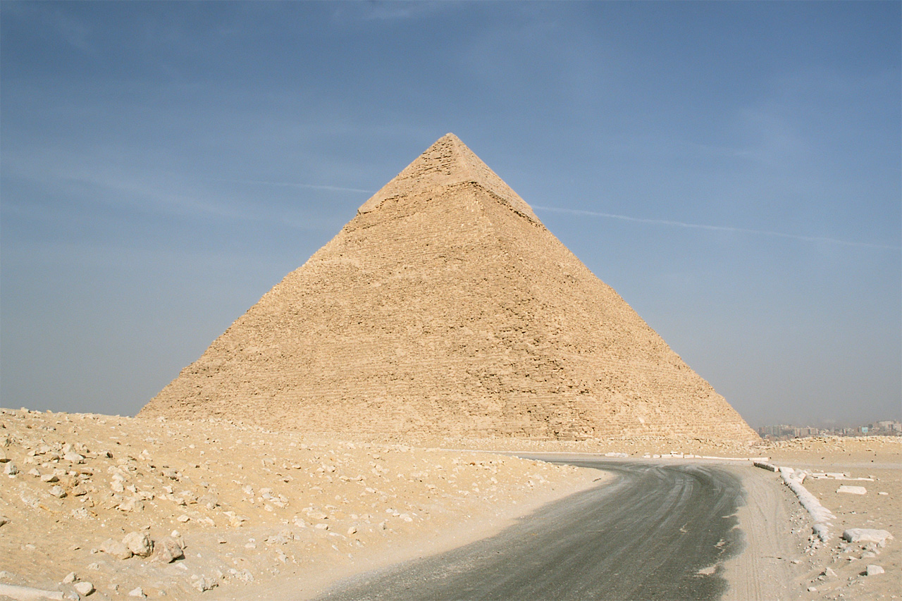 Pyramid of Kephren, part of Gizeh pyramid complex, Cairo, Egypt. Photo: Przemyslaw