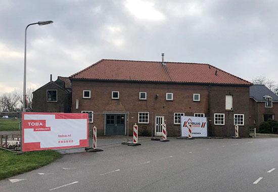Oud Bodegraafseweg Doordacht Rien Schakel - start bouw met bouwhekdoek